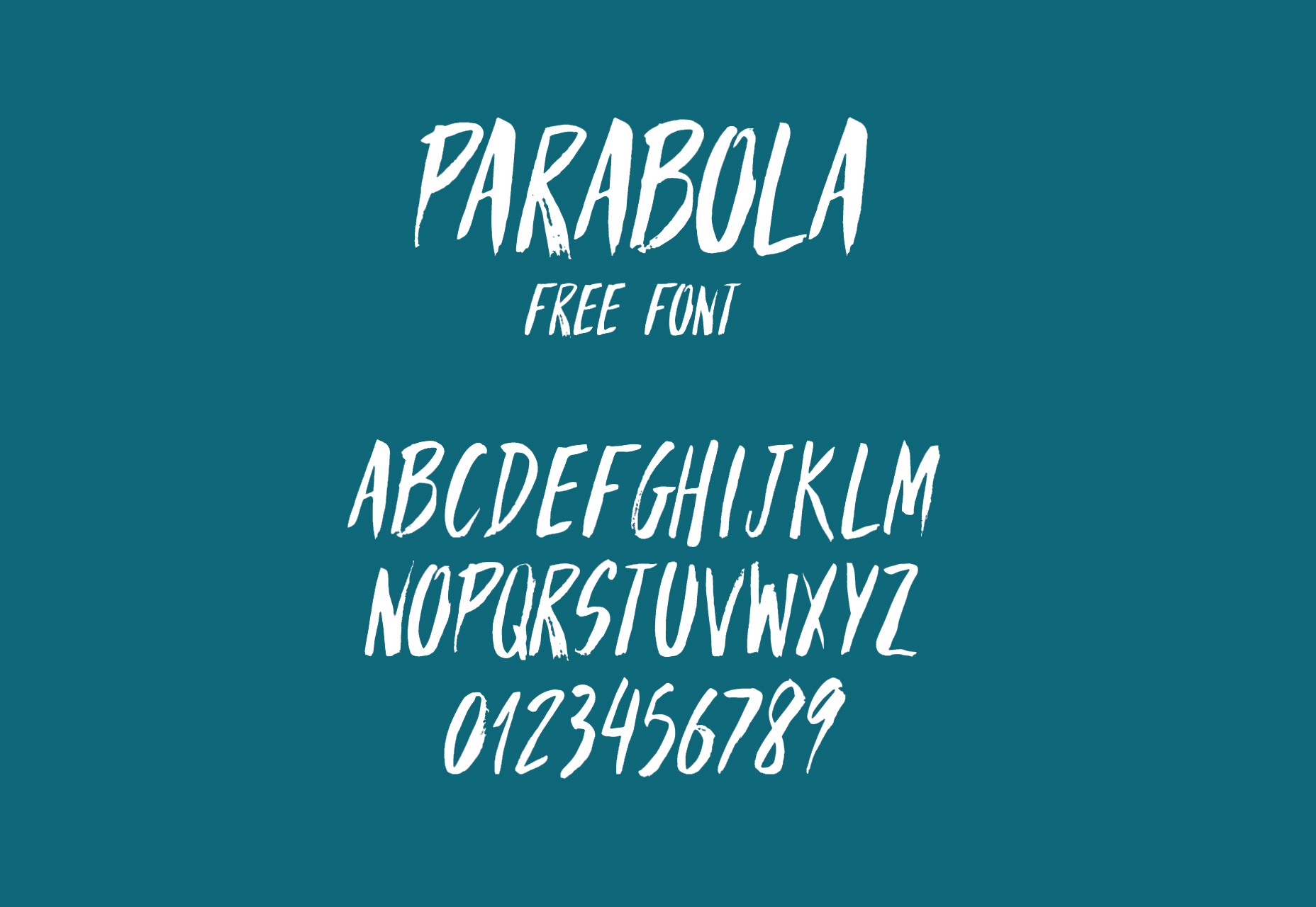 parabola-brush-hand-written-style-font