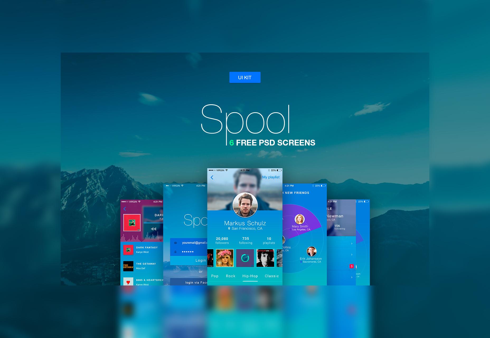 spool-iphone-material-design-ui-kit-psd