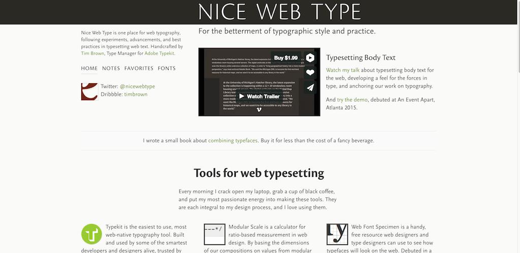Nice-Web-Type